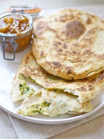 Pan naan de queso y cebolla, receta de la India con Thermomix « Thermomix en el mundo