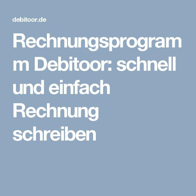 Rechnungsprogramm Debitoor: schnell und einfach Rechnung schreiben