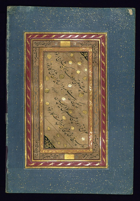 Album of Persian miniatures and calligraphy, Calligraphy page, Walters Manuscript W.671, fol.32b by Walters Art Museum Illuminated Manuscripts, via Flickr