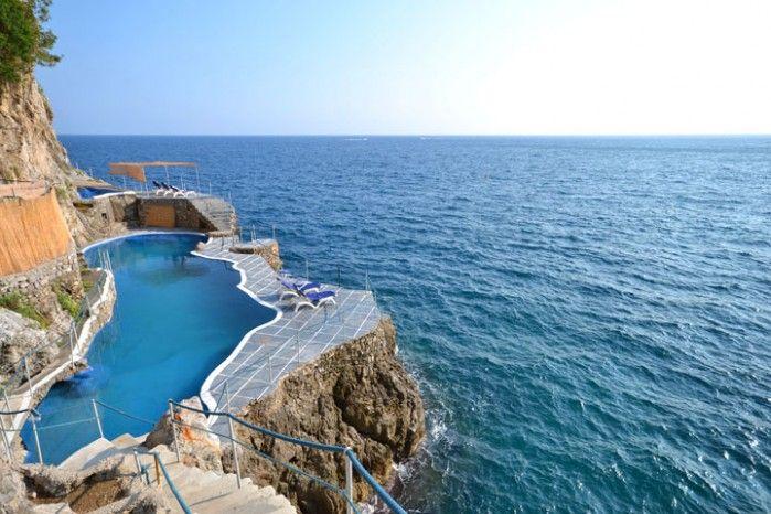 luxury seafront villa in amalfi coast