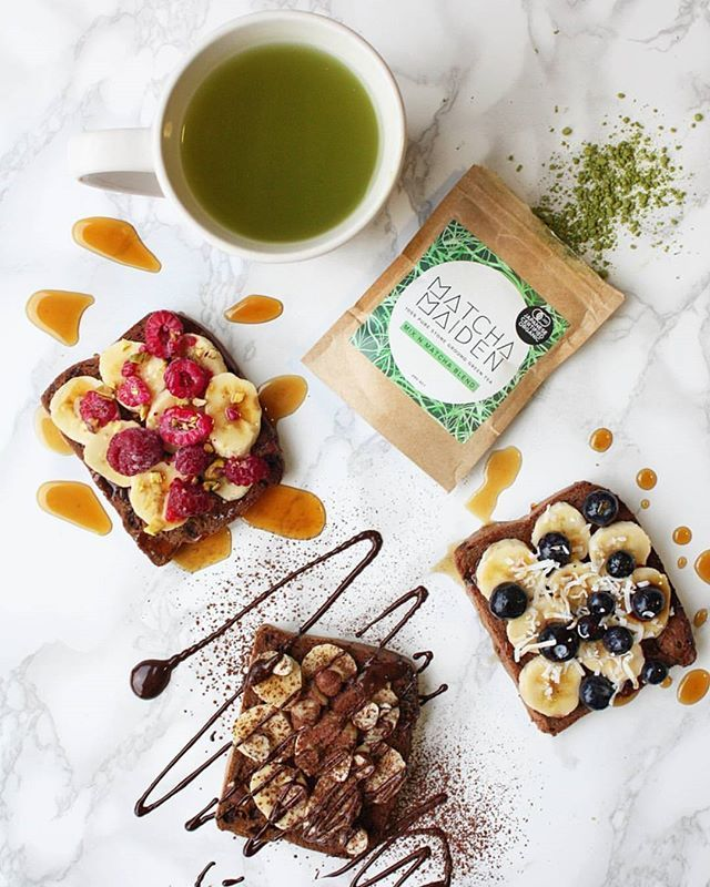 "HAPPY FRIYAY!!!!! @kellysfoodblog you are INCREDIBLE! ""Treating myself to an awesome breakfast today ... @vogelsnz gluten free fruit and spice toast with ❤ Raspberry, banana, pistachio & maple ❤ Blueberry, banana, coconut & maple ❤ Banana, hazelnut, cocoa & dark chocolate ❤ with ❤ @matcha_maiden #mixnmatcha green tea "" DELICIOUS!!!!!"