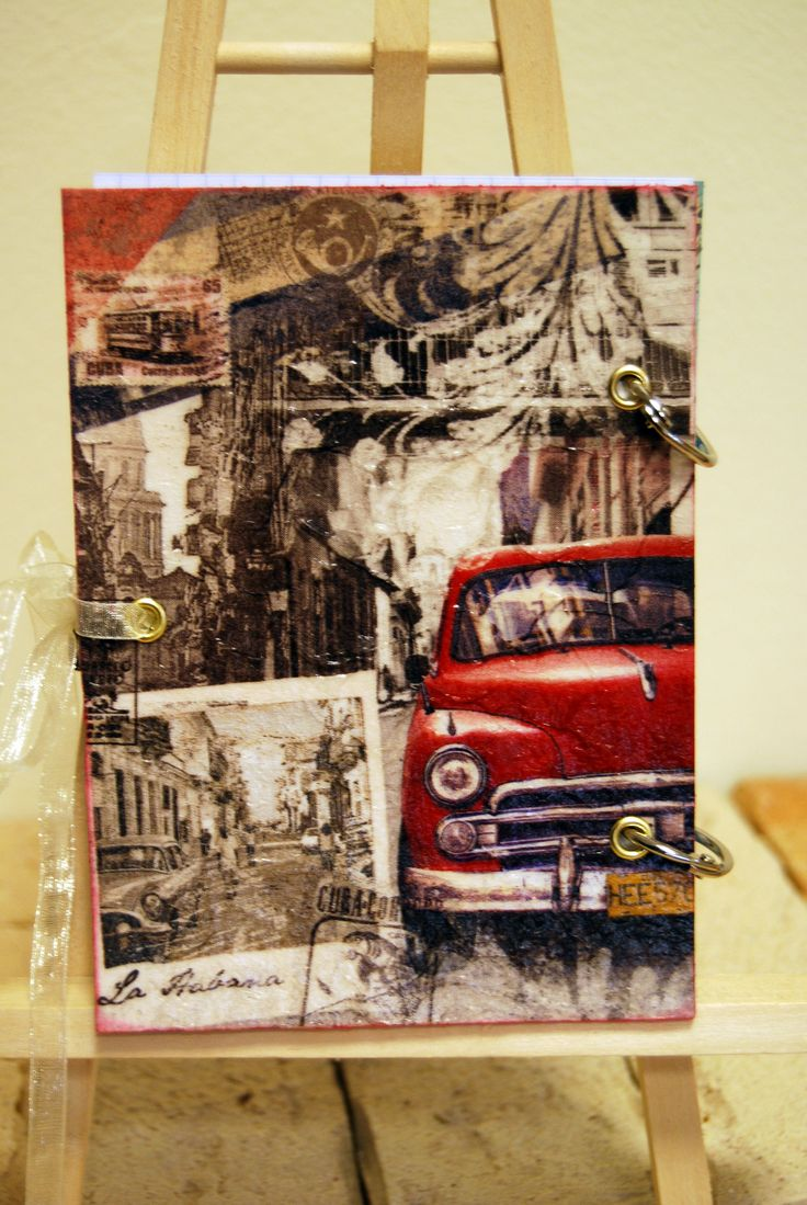 handmade notes, cover, decoupage