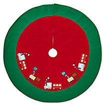 Holiday Collections Holiday Train Tree Skirt, 51-in