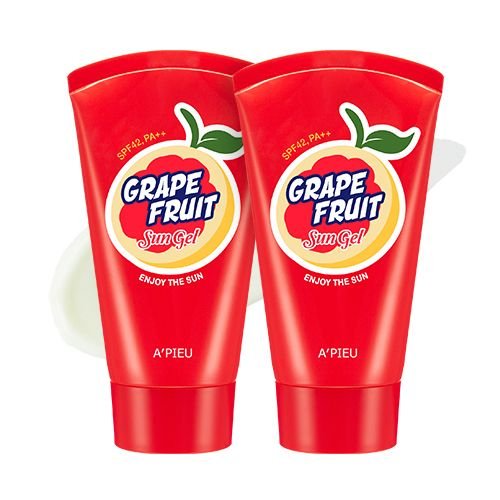 It is large size. Moist Full Fresh Sun Gel The vitamins contained in grapefruit extract (10000ppm) are energized daily. I feel up to the fresh grapefruit fragrance.