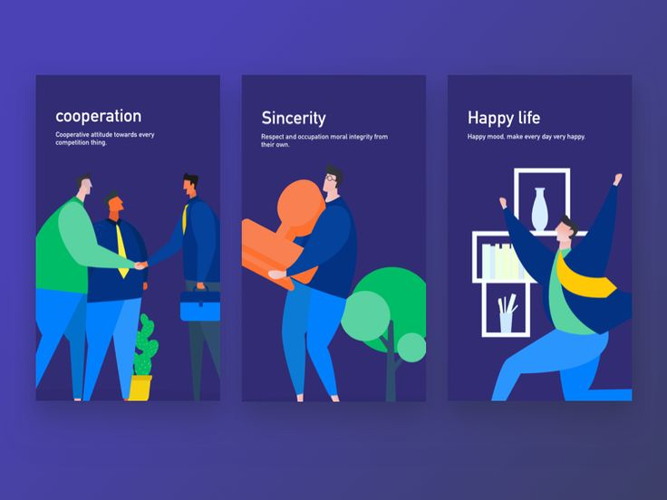 Happy, cooperative, credit vector illustration by erics - Dribbble