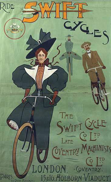 Swift cycles poster #UpscaleYourWalls with ruemarcellin.com Original #Vintage…