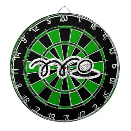 Unique golfing gift - Dartboard with golf print - tap to personalize and get yours