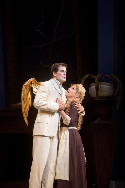 Luca Pisaroni as Alidoro and Joyce DiDonato as Angelina in Rossini's La Cenerentola photo by Ken Howard. Read review at: http://www.whattravelwriterssay.com/performingarts.html