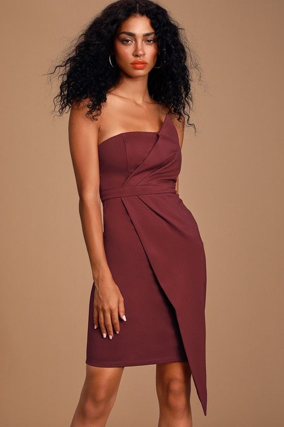 Lulus | Queen of the City Burgundy Strapless Bodycon Dress | Size X-Small | 100% Polyester 5