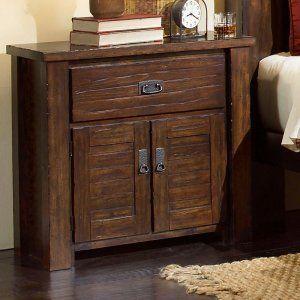 Progressive Furniture Trestlewood 1 Drawer Nightstand - Mesquite Pine Image