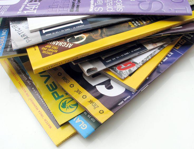 Old Magazines crafts