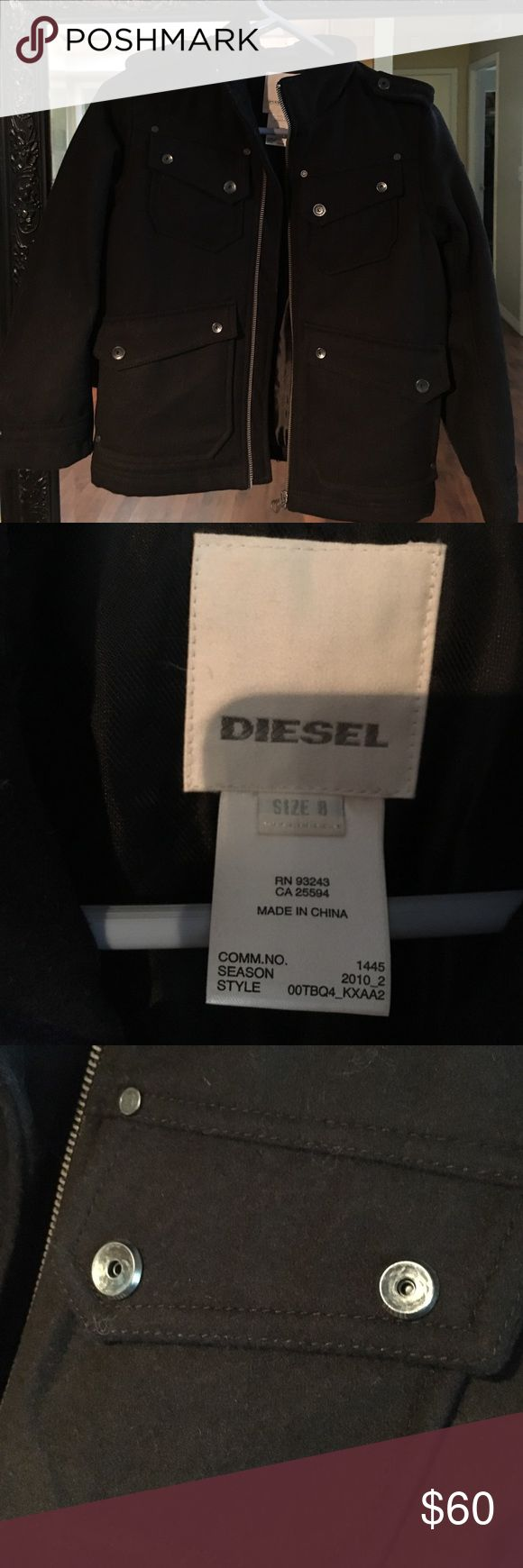 Boys Diesel Coat/jacket Size 8 Never worn Boys size 8 Diesel Coat. 60% wool, 30% polyester. Bought off their website but my son never wanted to wear it. So cute on! Diesel Jackets & Coats Pea Coats