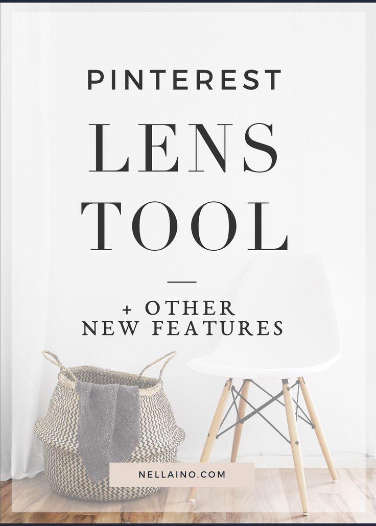 Pinterest tips & update - new visual tool Pinterest Lens. Visit nellaino.com/blog for more info!