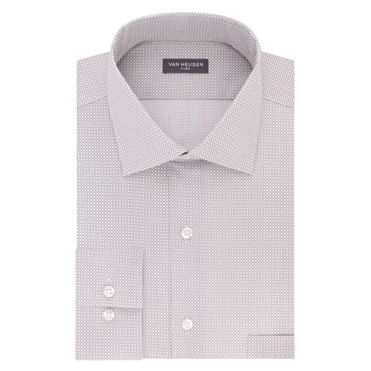 Men's Van Heusen Flex Collar Regular Fit Stretch Dress Shirt, Size: 15.5-32/33, Grey Other