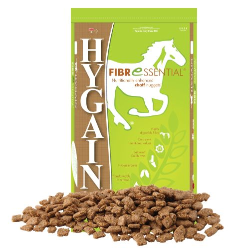 If you are still feeding chaff, it's time for a change!  Let us introduce you to our hypoallergenic chaff replacer, HYGAIN FIBRESSENTIAL. We call it a fibre superstar not only because of its amazing digestibility improving gut health and body condition, but also because it has an enhanced  calcium content that may help buffer stomach acid assisting horses with stomach ulcers.  HACCP and Feed Safe certified, providing first class quality and consistency all year around!