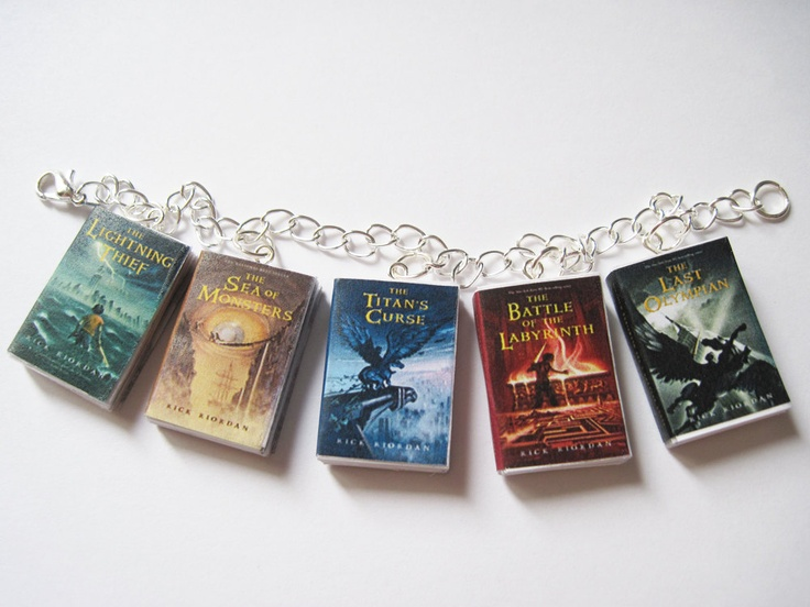 Percy Jackson and the Olympians Mini Book Charm Bracelet. $19.00, via Etsy.