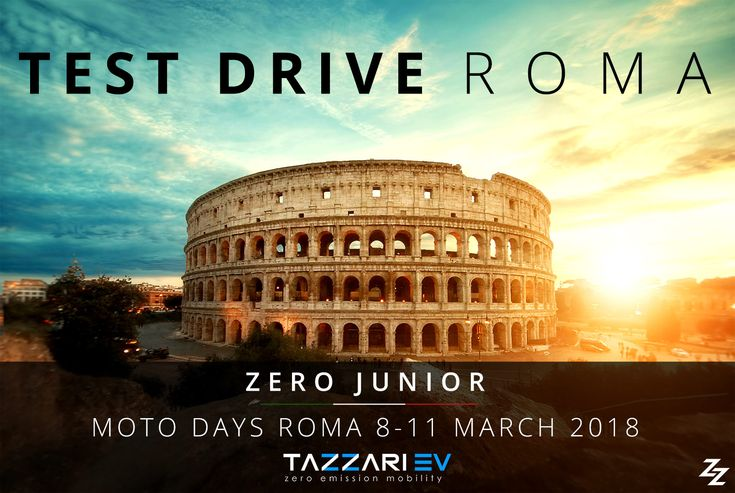"""All roads lead to Rome"" and Tazzari EV is already on route with Next Generation Zero! Come to see and test the new Zero Junior at Moto Days 2018 from Thursday the 8th to Sunday the 11th March. #TazzariEV #zeroemissioni #autoelettrica #tazzarizero #quadriciclo #tuttelemotoportanoaroma #madeinitaly #imola #citycar #motorvalley #tazzarizero2018 #ZZ #Tazzari #EV #nextgeneration #motodays #motodaysroma #motodays2018"