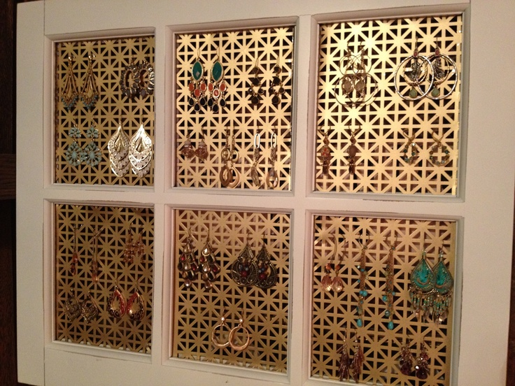 Diy Earring Holder Take Any Picture Frame Remove The