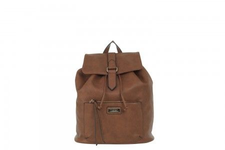 Pocket Backpack in Brown. More pockets than you'll ever need.