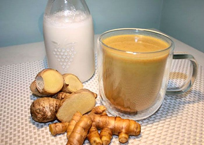 Blend Turmeric + Ginger with Coconut Milk. Drink Before Bed to Flush Liver Toxins While You Sleep