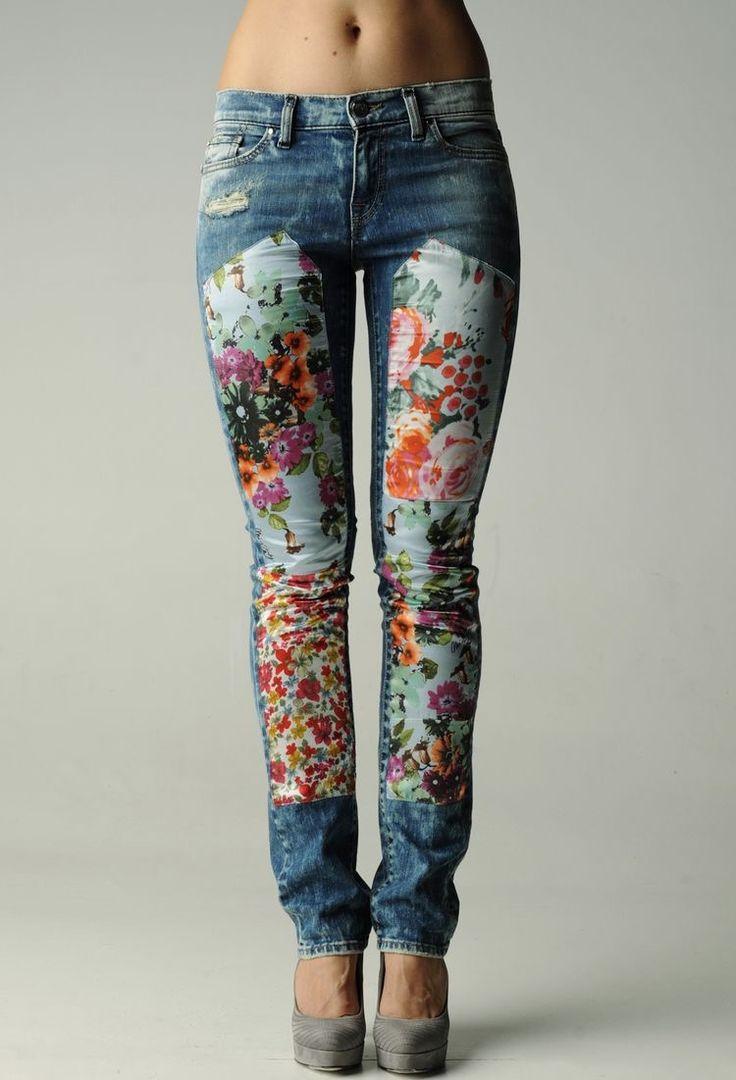denim jeans, patchwork, stitch