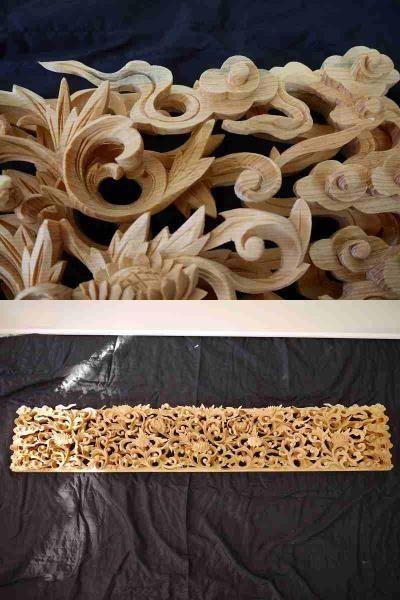 【展示品特価】 唐草の見事な欄間彫 彫刻 限定1枚_画像3