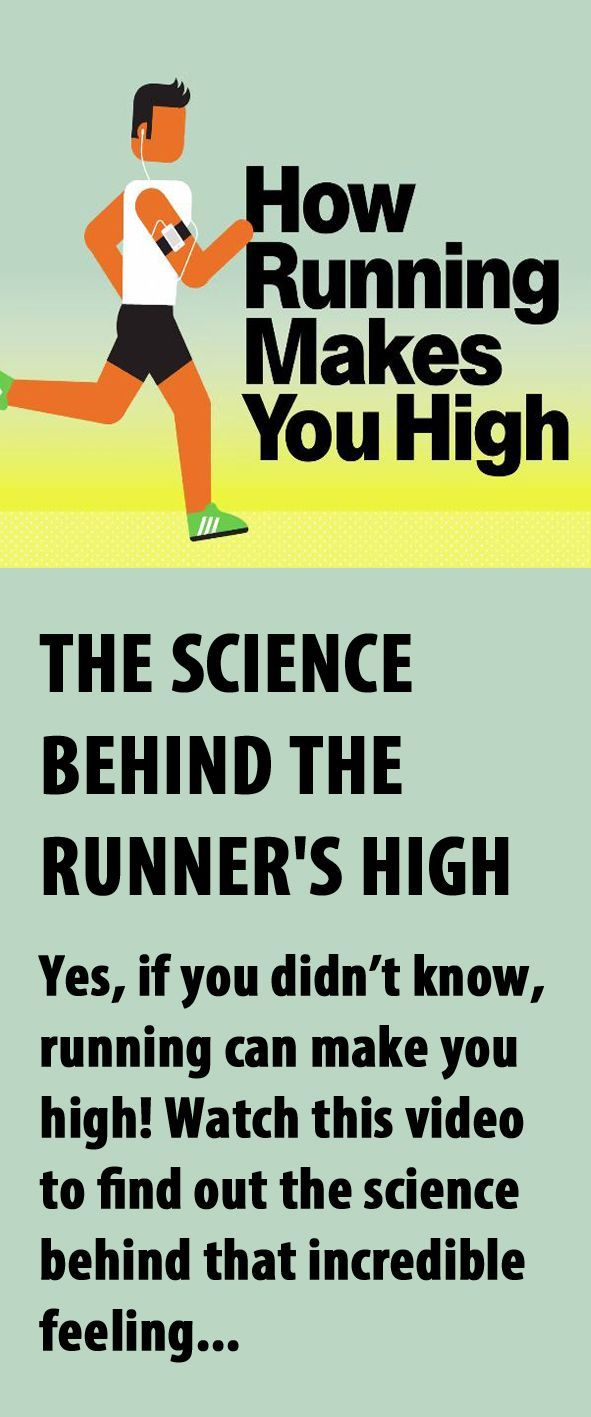 The science behind the runner's high. #running #runnershigh
