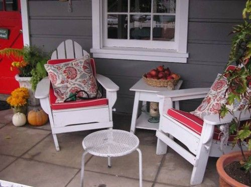 17 best ideas about small front porches on pinterest for Uncovered patio ideas