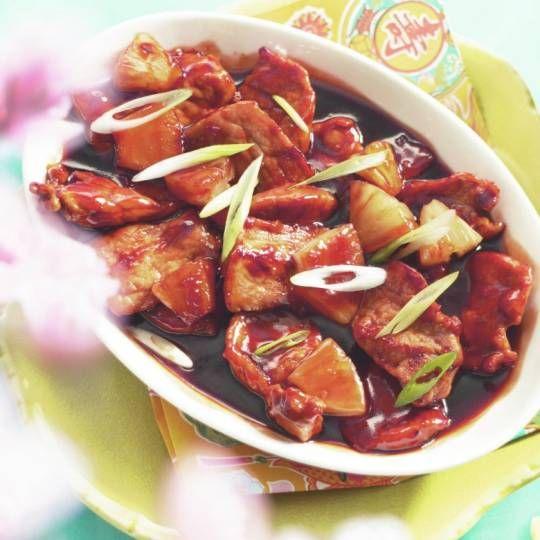 Recept - Varkensfilet in zoetzure saus met mihoen - Boodschappenmagazine