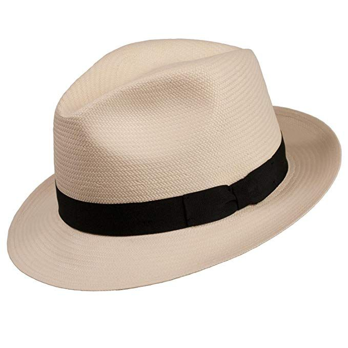 bc2ae397606 Levine Hat CO Men s  Centurion  Classic Snap Brim Shantung Panama Straw  Fedora Hat Review