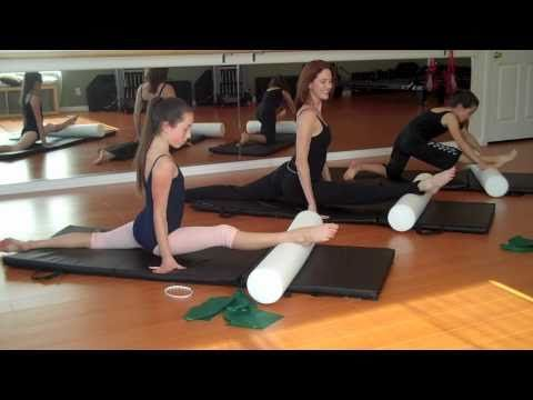 Over Splits - Pilates for ballet with foam roller & theraband- flexibility , stretching - YouTube
