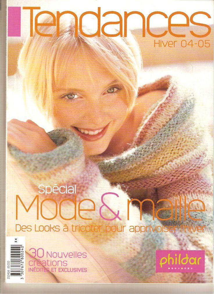 Phildar hiver 04-05 (celui avec le pull orange que j'ai toujours aimé)