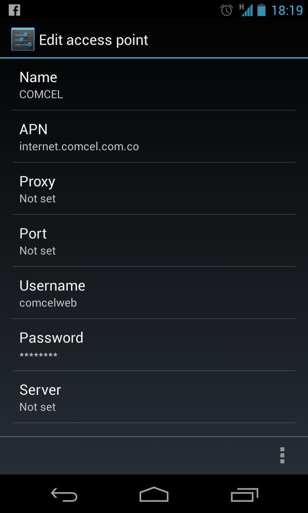 Configuracion APN Claro Colombia 2014