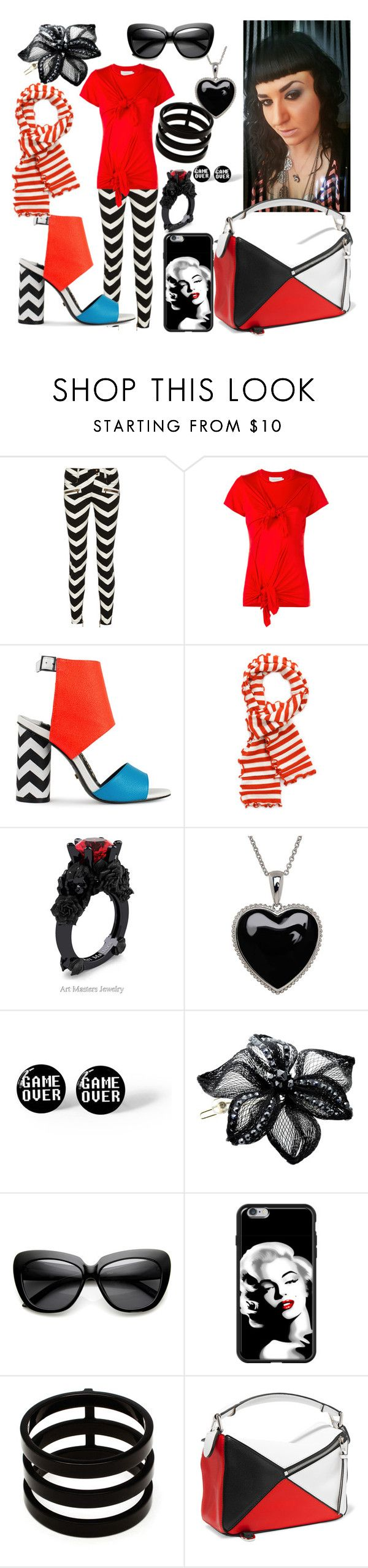 """Untitled #362"" by mentalterrorist on Polyvore featuring Balmain, Marques'Almeida, Kat Maconie, Slater Zorn, Lord & Taylor, Colette Malouf, Repossi and Loewe"
