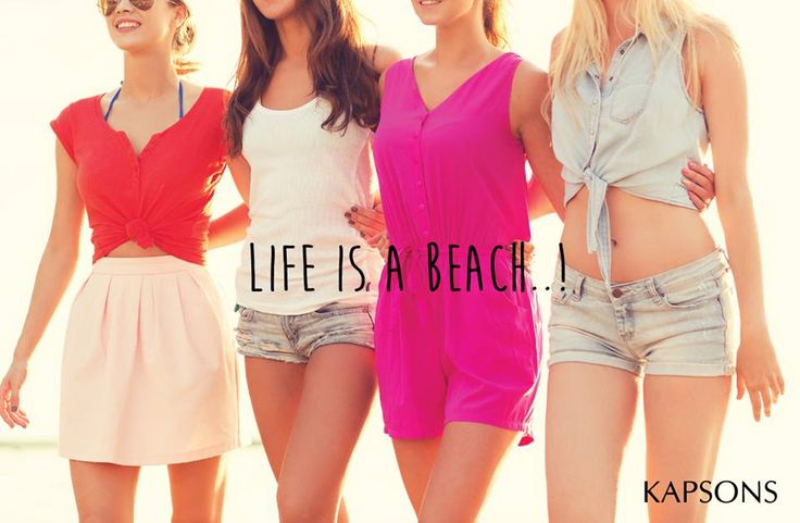 Dress best for it...!!! Shop at Kapsons for the best beach fashion... #Kapsons #BeachFashion #ShopAtKapsons