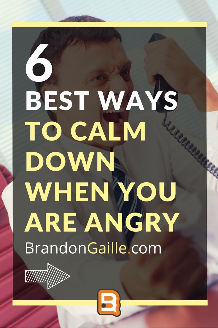 6 Best Ways to Calm Down When You Are Angry | Calm down ...