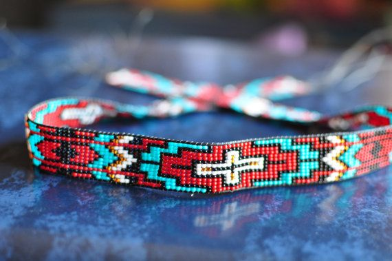 beaded hat band cross - Google Search