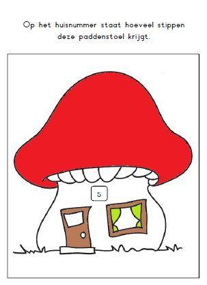 Kleikaart: geef de paddenstoel stippen