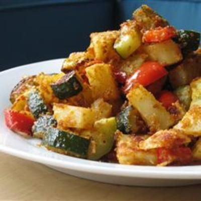 #recipe #food #cooking Zucchini and Potato Bake: Dinner, Zucchini, Side Dishes, Recipe, Food, Potatoes Baking, Healthy, Eating, Cooking