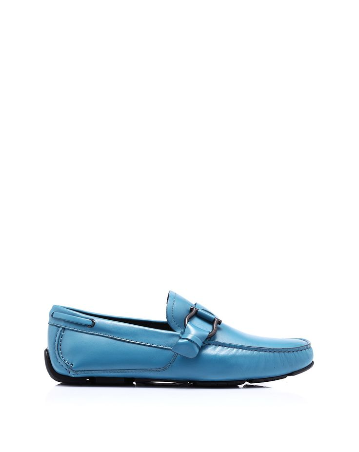 Leather moccasin-shoes by @Salvatore Ferragamo