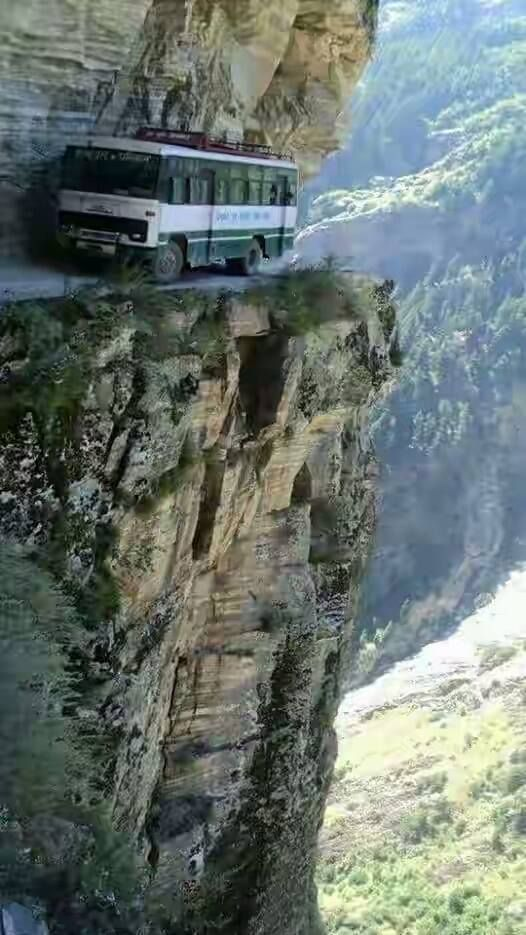 The world's most dangerous road to ride on