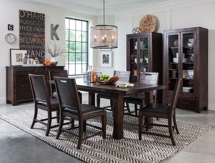Add Modern Flair To A Craftsman Dining Room By Painting Brick Walls White And Bringing In