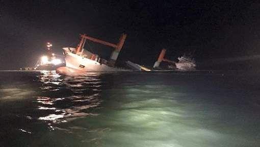 Collision entre un cargo et un méthanier au large de la côte - 7SUR7.be
