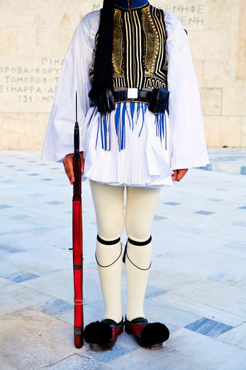 The Greek Evzone uniform is a ceremonial uniform worn by the members of the Presidential Guard. It has a rich history, though. Here's more information.