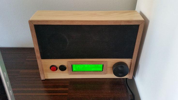 Raspberry Pi Squeezebox Player featuring a custom wooden enclosure and a custom interface http://ift.tt/2of1AkU