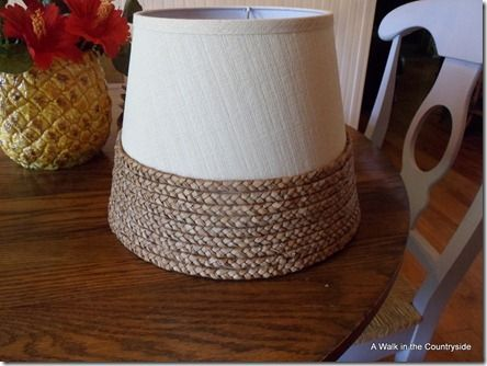 Make a Seagrass Lampshade from a placemat