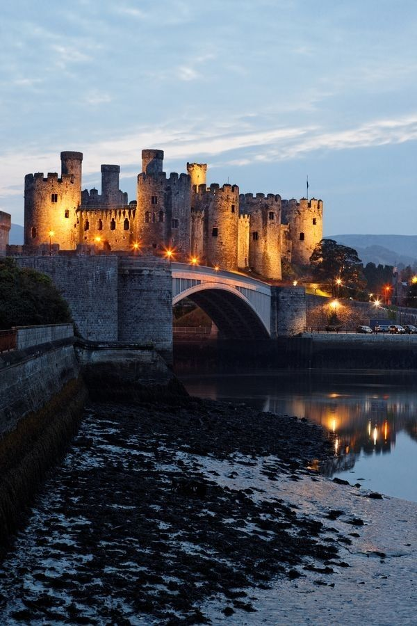 """Conwy Castle, Conwy County. Like so many of the great Welsh castles, Conwy was built by English King Edward I during his conquest and repression of Wales. On making it a #World Heritage Site, UNESCO declared Conwy to be one of """"the finest examples of late 13th century and early 14th century military architecture in Europe."""""""