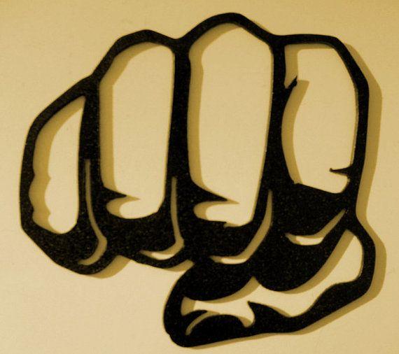 Fist Bump Knuckles Hand Shake Business Metal Art