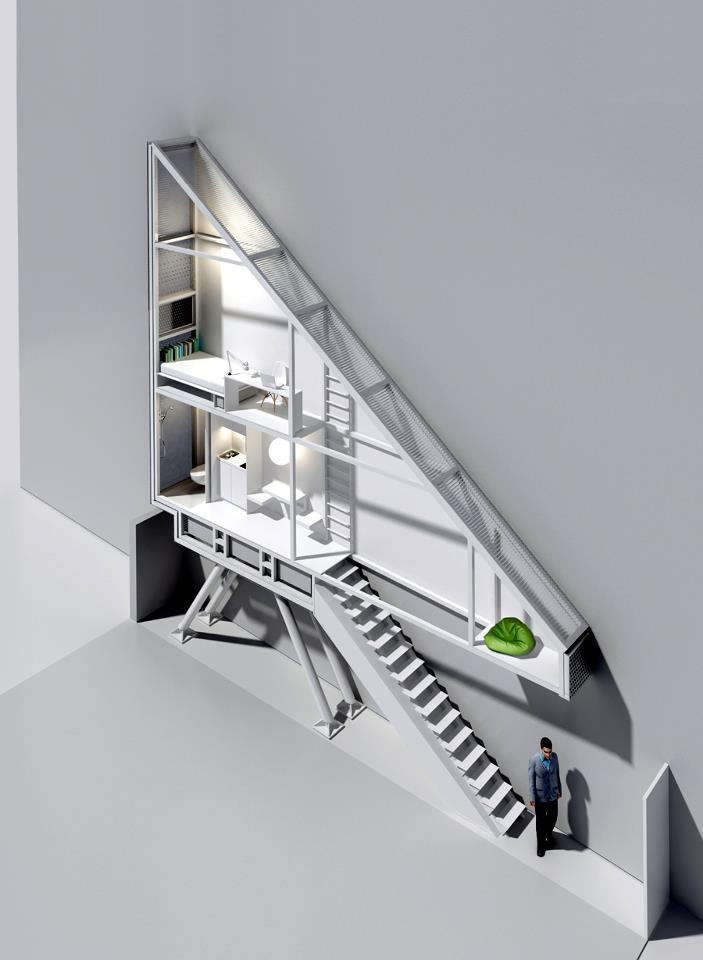 Keret House the Narrowest Home in the World by  Jakub Szczęsny in Warsaw, Poland