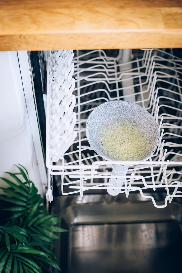 How to clean the dishwasher with vinegar baking soda